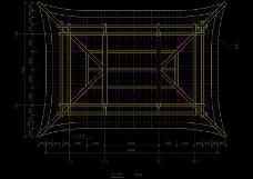 一座亭子顶层解析图