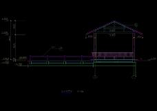 一座亭子的结构cad图