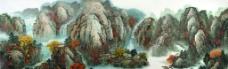 深秋红叶红满山川图片