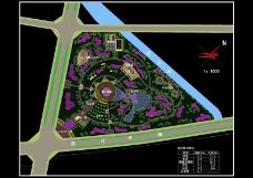 某中心绿地总体规划图