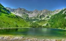 唯美祖山湖图片