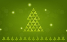 绿色三角圣诞树背景矢量素材