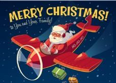 圣诞老人坐飞机