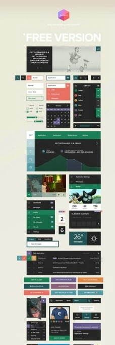 Square UI 模板素材图片