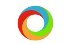 炫彩立体圆环图标图片