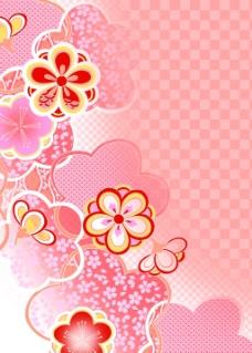 粉色格子背景