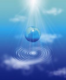 蓝色地球背景