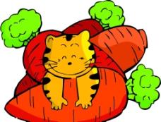 小猫鱼萝卜图片