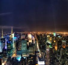 曼哈顿夜景图片