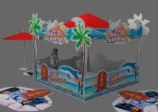 夏日活动-遮阳棚遮阳图片