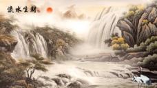山水国画 分层图片