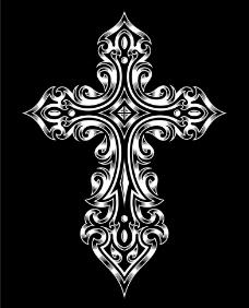 十字架t恤图案纹身设