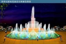 景观水景喷泉CAD喷灌结构图纸