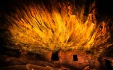 洞穴内房子图片