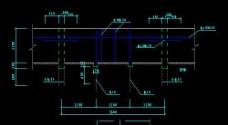 景区钢砼栈道CAD施工详图大样图