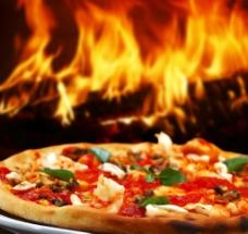 唯美披萨图片