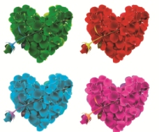 心形玫瑰花 花瓣图片
