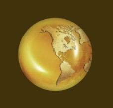 金属地球图片