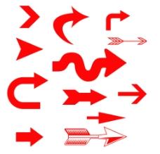 方向指示图片