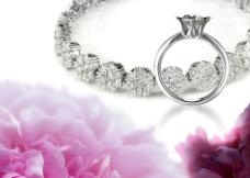 鉆石戒指和鉆石項鏈圖片