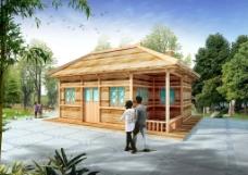 木屋效果图图片