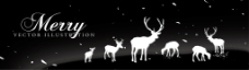 圣诞小鹿通栏