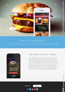 手机订餐网站模板图片