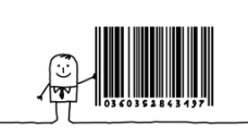 创意卡通小人条码图片