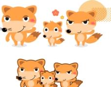 可爱卡通矢量狐狸图片