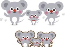 可爱矢量小动物卡通考图片