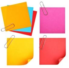彩色便签纸图片
