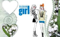时尚女孩图片