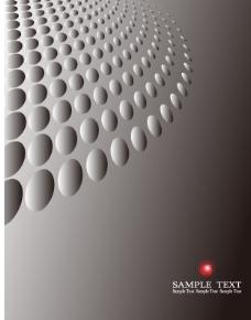 圆圈立体金属科技质感背景底纹