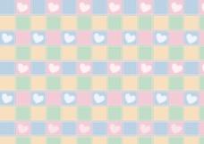 可爱格子背景素材图片