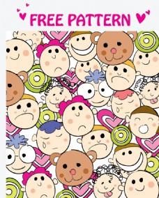卡通儿童表情背景