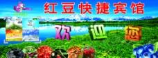 紅豆快捷賓館宣傳海報圖片