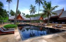 度假村 海边 泳池图片
