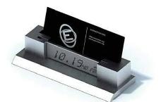名片盒电子钟一体3D模型