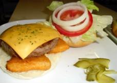 唯美汉堡图片