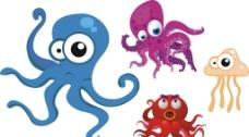 卡通章鱼图片