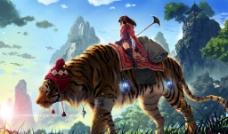 老虎萝莉图片