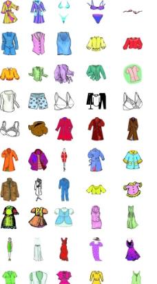 卡通衣服女图片