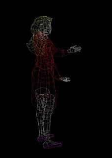 人物cad图纸模型设计