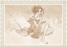 陶瓷喷墨花片 通道分层图片