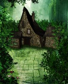 影楼神秘花园背景