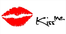 Kiss Me 唇印墙贴纸图片