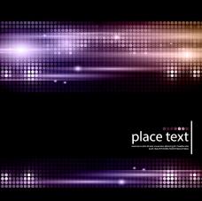 紫色圆点光效背景矢量素材