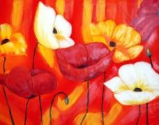 花卉油画图片