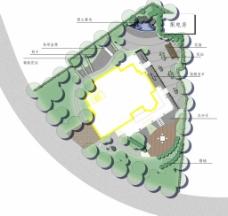 境外园林别墅平面图图片