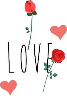 LOVE玫瑰花背景图.
